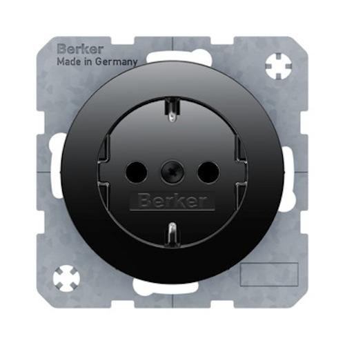 Berker Schuko Steckdose R.1 R.3 schwarz glänzend Elektrohandel