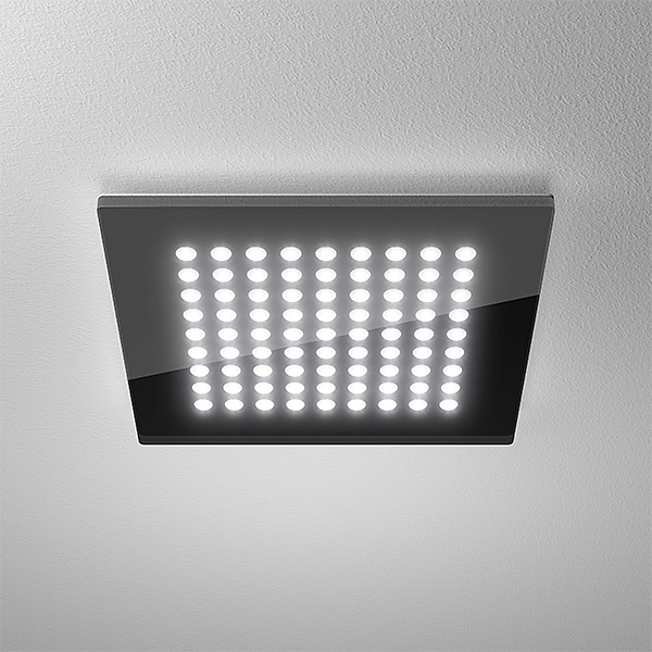 lts led downlight domino flat 9x9 led s 23 watt schwarz. Black Bedroom Furniture Sets. Home Design Ideas