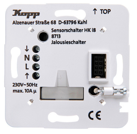 Kopp Hki8 Leistungsteil Jalousie Schalter Elektrohandel 871300010