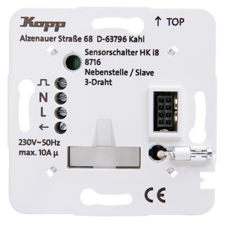 Kopp HKi8 Leistungsteil Schalter Taster - Nebenstelle 3-Draht ...