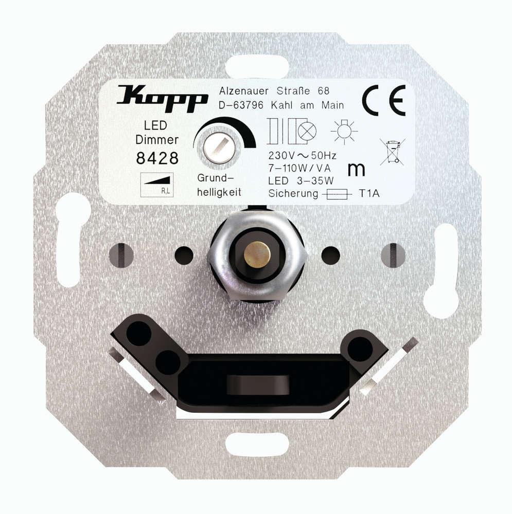 Kopp Led Dimmer Druck Wechselschalter 3 35 Watt 7 110 Va Up